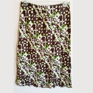 Alice & Trixie 100% Silk Abstract Print Skirt...XS